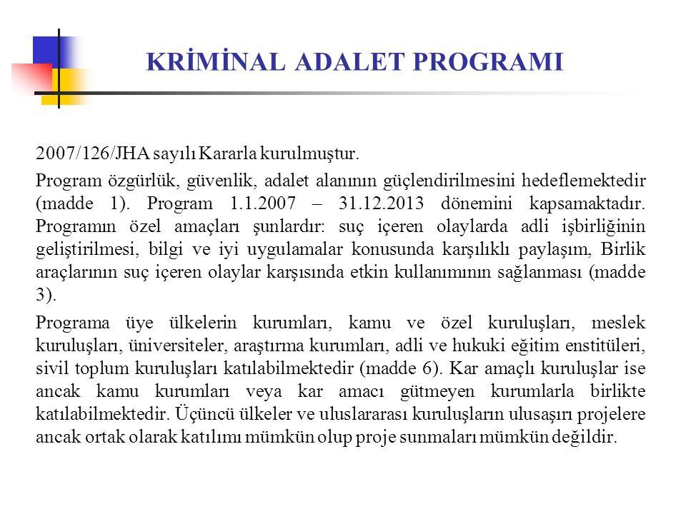 KRİMİNAL ADALET PROGRAMI