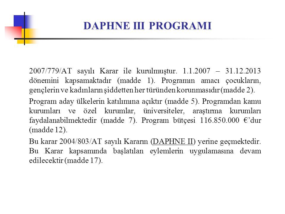 DAPHNE III PROGRAMI