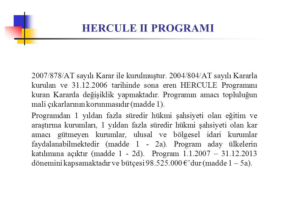HERCULE II PROGRAMI