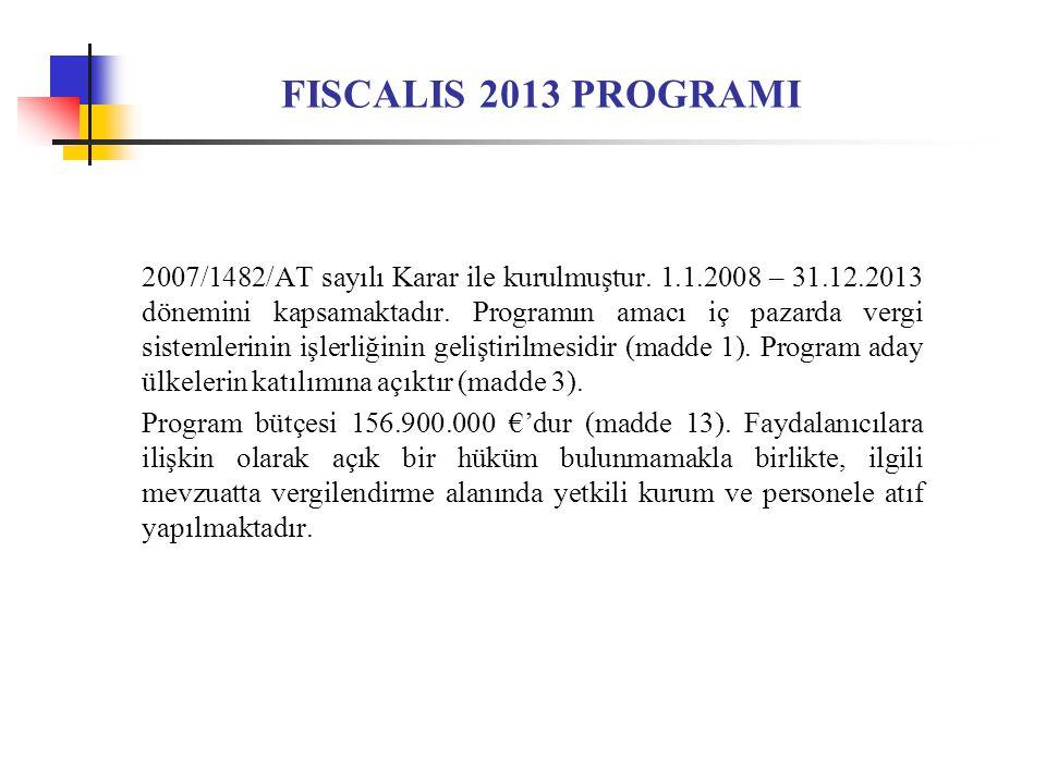 FISCALIS 2013 PROGRAMI
