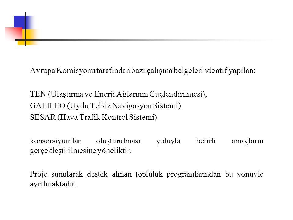 Avrupa Komisyonu tarafından bazı çalışma belgelerinde atıf yapılan: