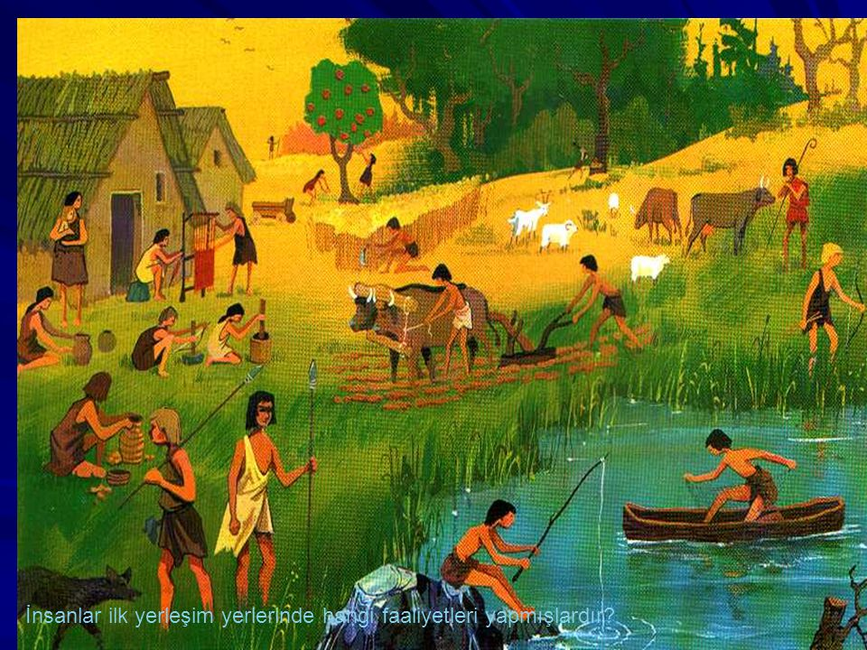 İnsanlar ilk yerleşim yerlerinde hangi faaliyetleri yapmışlardır