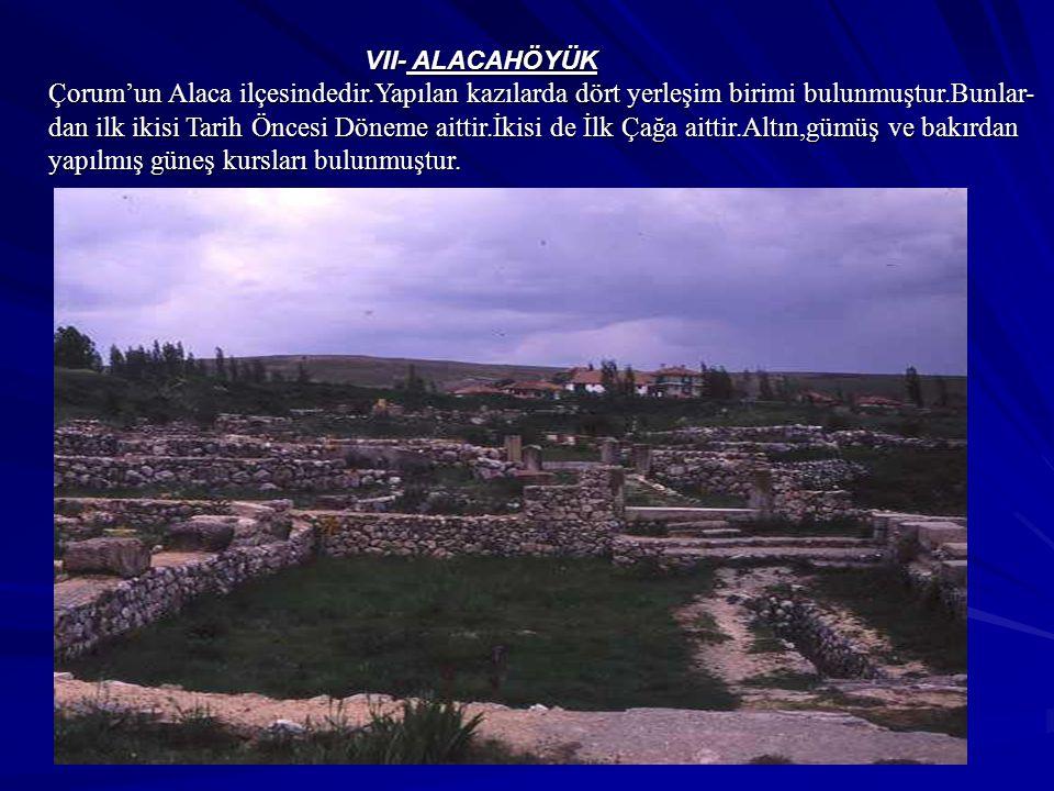 VII- ALACAHÖYÜK
