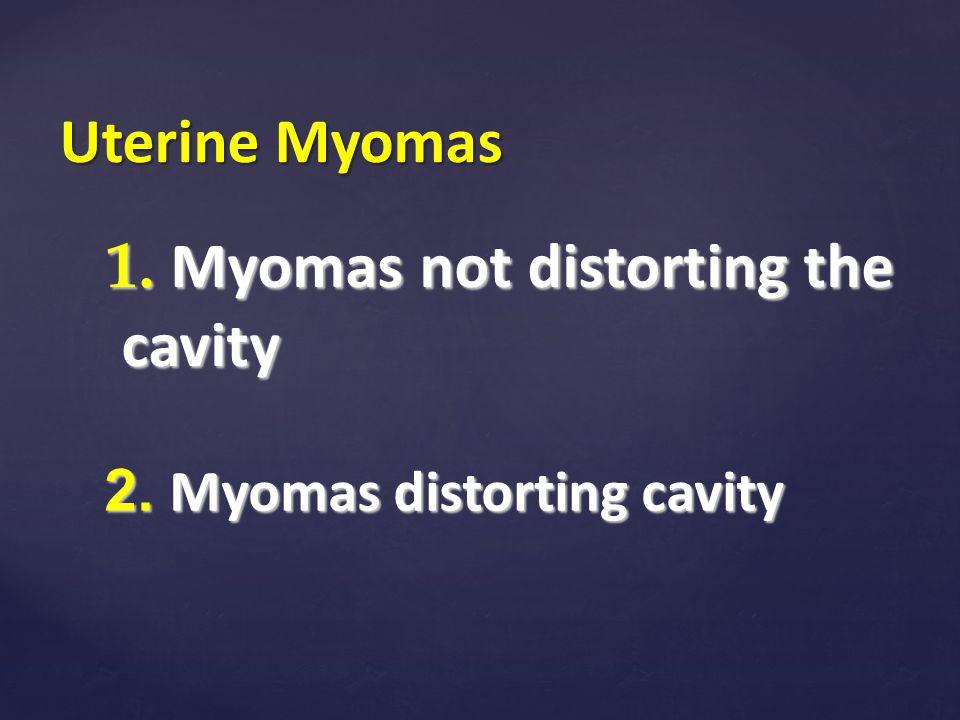 1. Myomas not distorting the cavity