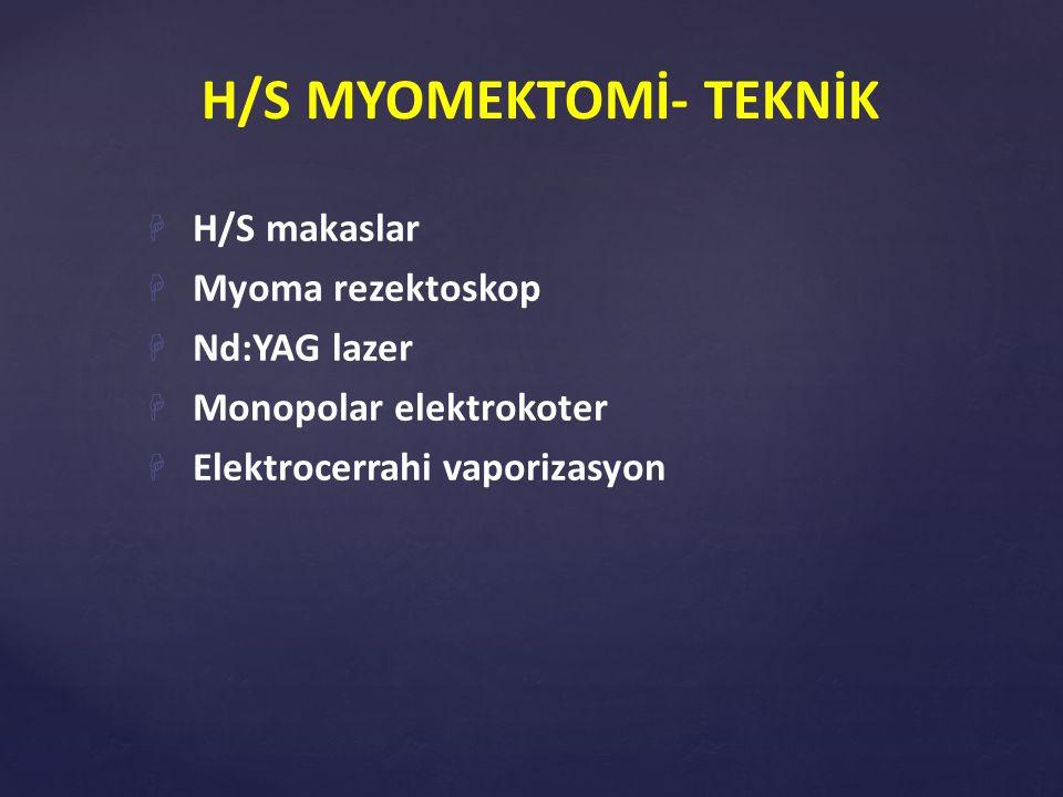 H/S MYOMEKTOMİ- TEKNİK