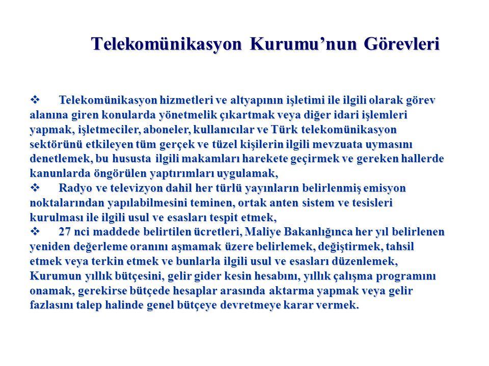 Telekomünikasyon Kurumu'nun Görevleri