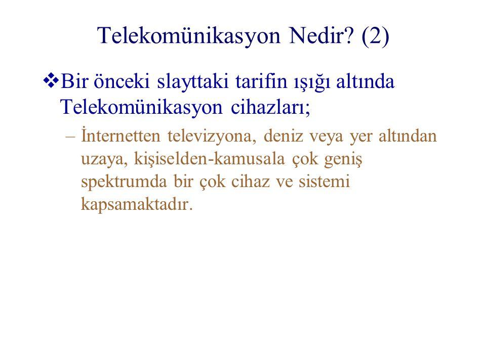 Telekomünikasyon Nedir (2)