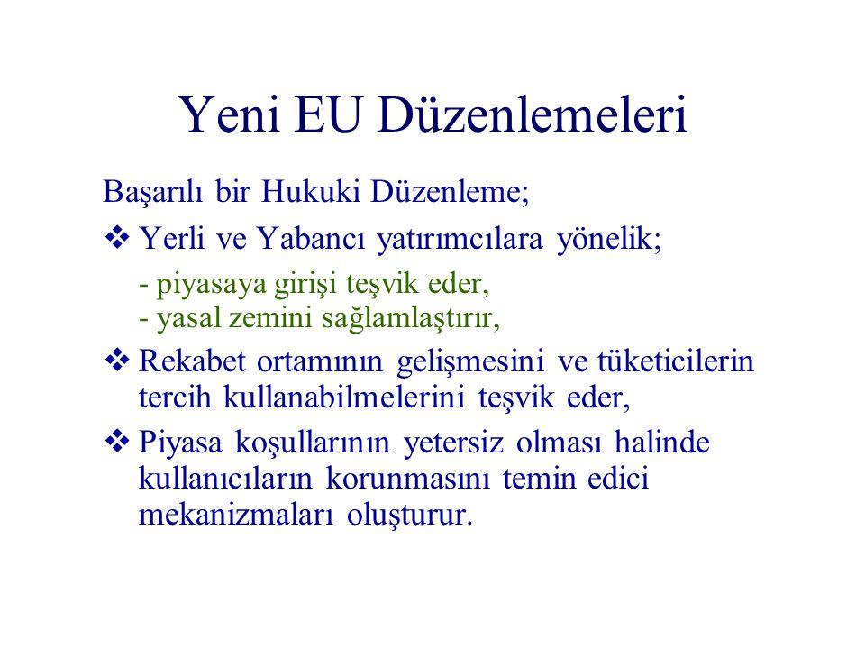 Yeni EU Düzenlemeleri Başarılı bir Hukuki Düzenleme;