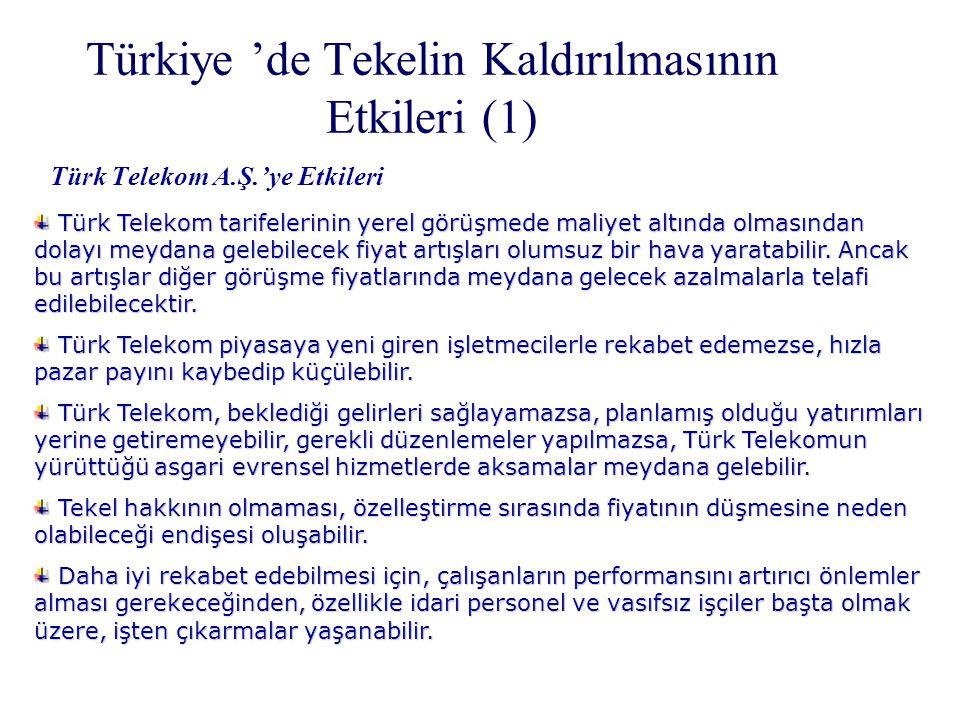 Türkiye 'de Tekelin Kaldırılmasının Etkileri (1)