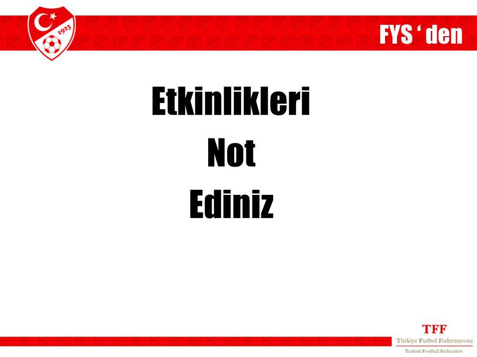 FYS ' den Etkinlikleri Not Ediniz 14