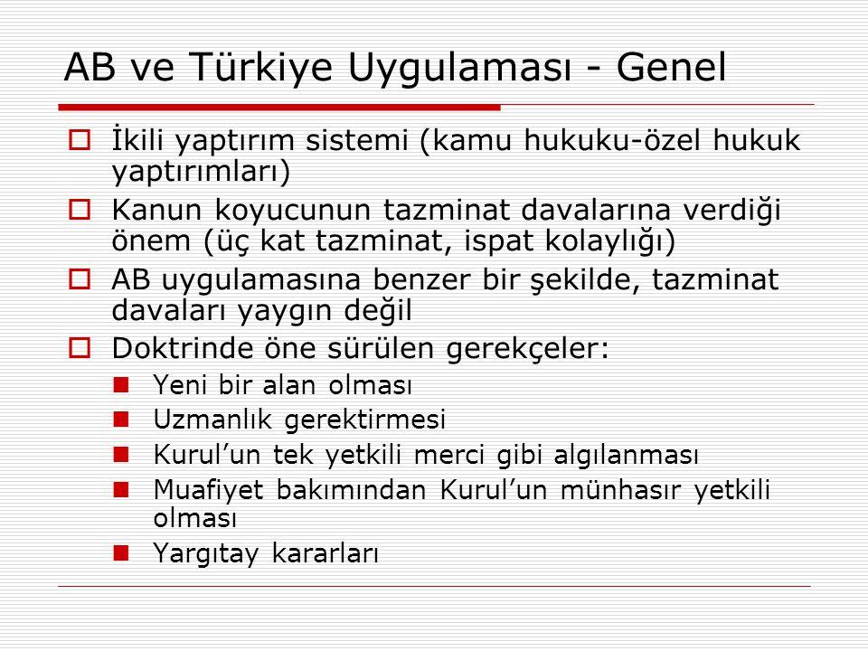 AB ve Türkiye Uygulaması - Genel