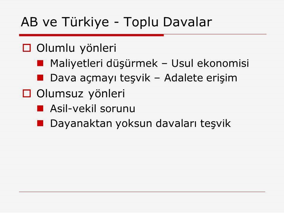 AB ve Türkiye - Toplu Davalar