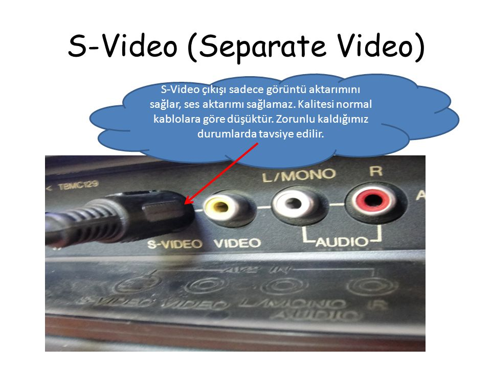 S-Video (Separate Video)