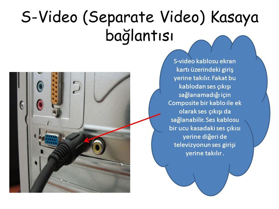 S-Video (Separate Video) Kasaya bağlantısı