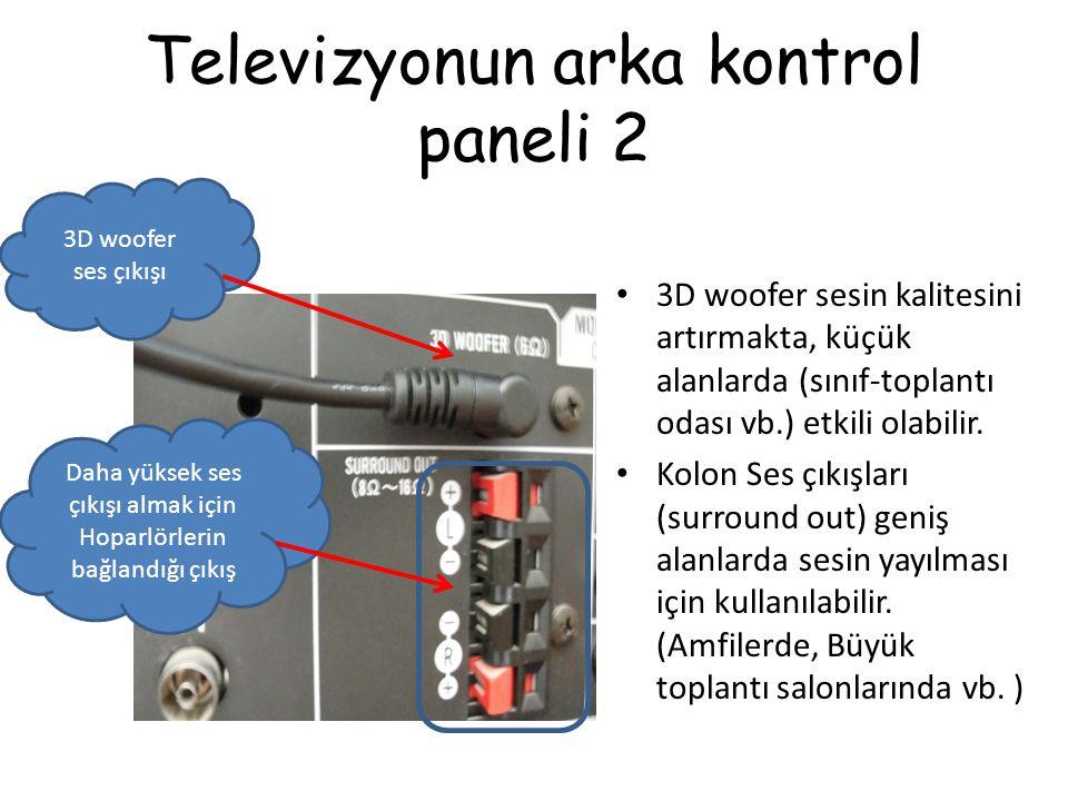 Televizyonun arka kontrol paneli 2