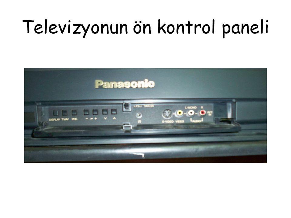 Televizyonun ön kontrol paneli