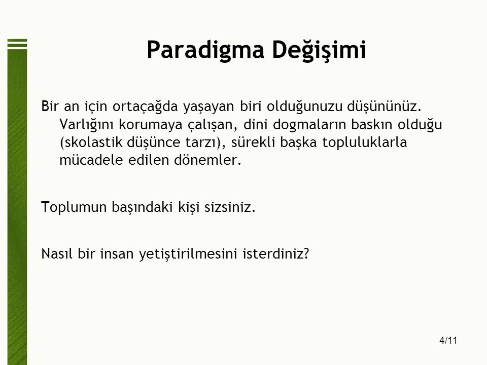 Paradigma Değişimi