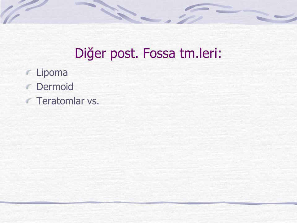 Diğer post. Fossa tm.leri: