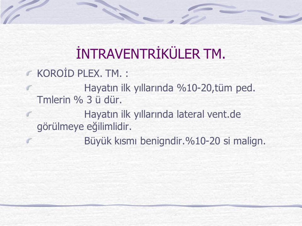 İNTRAVENTRİKÜLER TM. KOROİD PLEX. TM. :