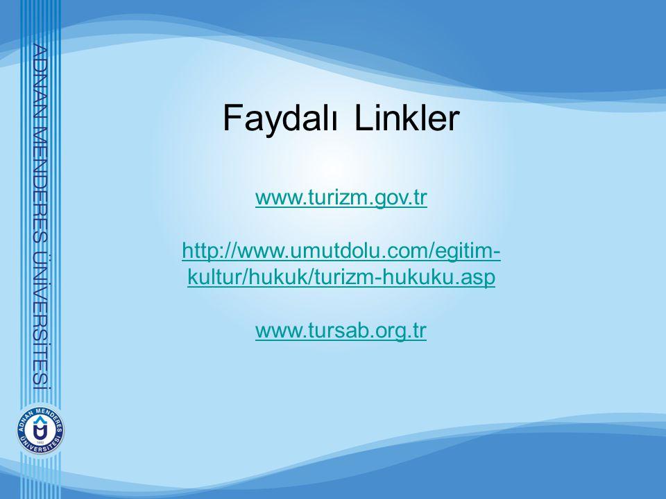 Faydalı Linkler www. turizm. gov. tr http://www. umutdolu