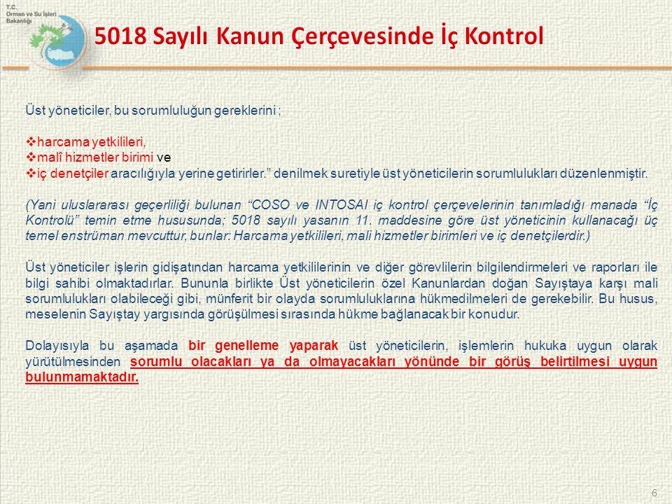 5018 Sayılı Kanun Çerçevesinde İç Kontrol