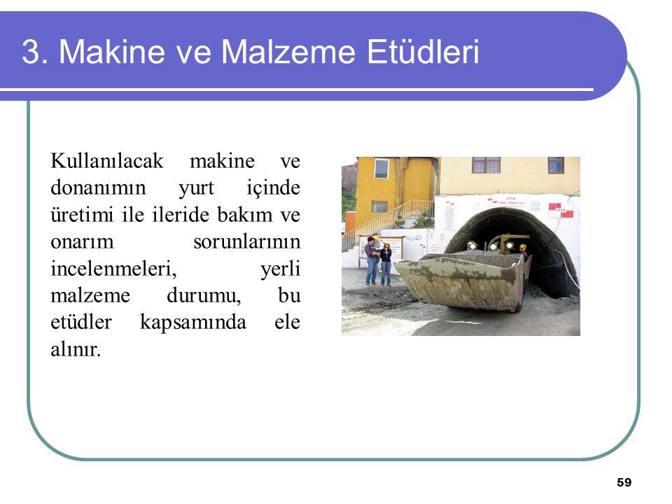 3. Makine ve Malzeme Etüdleri