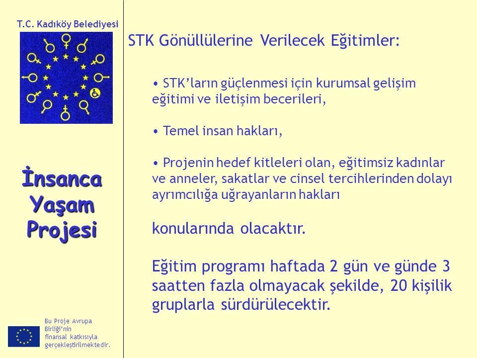 İnsanca Yaşam Projesi STK Gönüllülerine Verilecek Eğitimler: