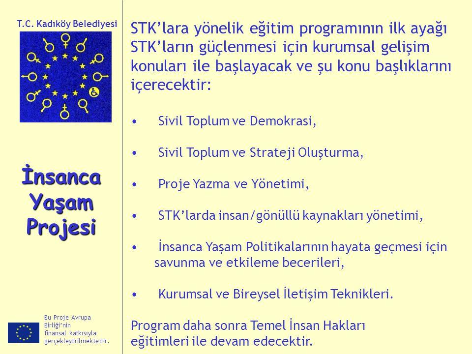 İnsanca Yaşam Projesi STK'lara yönelik eğitim programının ilk ayağı