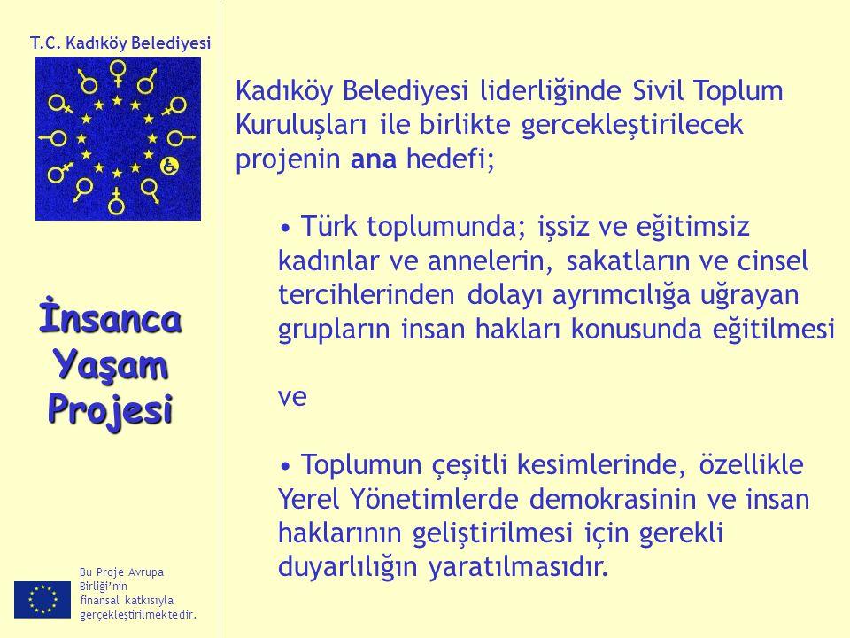 Kadıköy Belediyesi liderliğinde Sivil Toplum Kuruluşları ile birlikte gercekleştirilecek