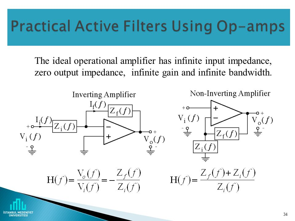 Practical Active Filters Using Op-amps