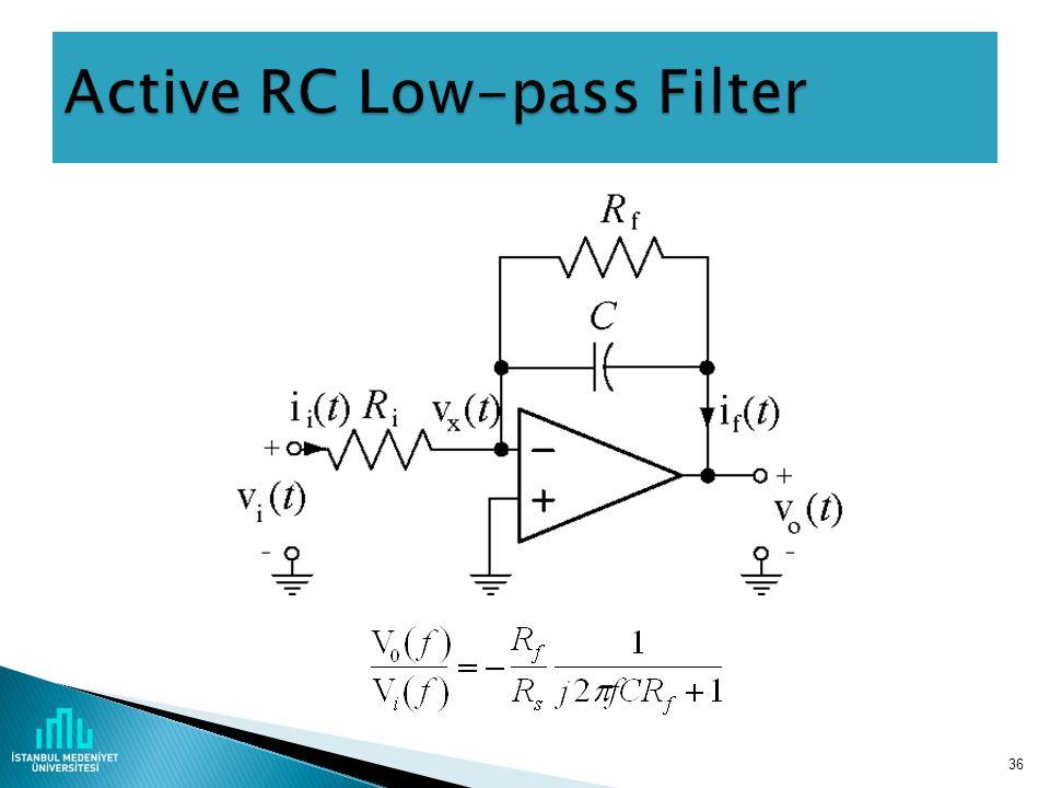 Active RC Low-pass Filter