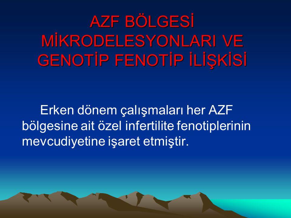 AZF BÖLGESİ MİKRODELESYONLARI VE GENOTİP FENOTİP İLİŞKİSİ