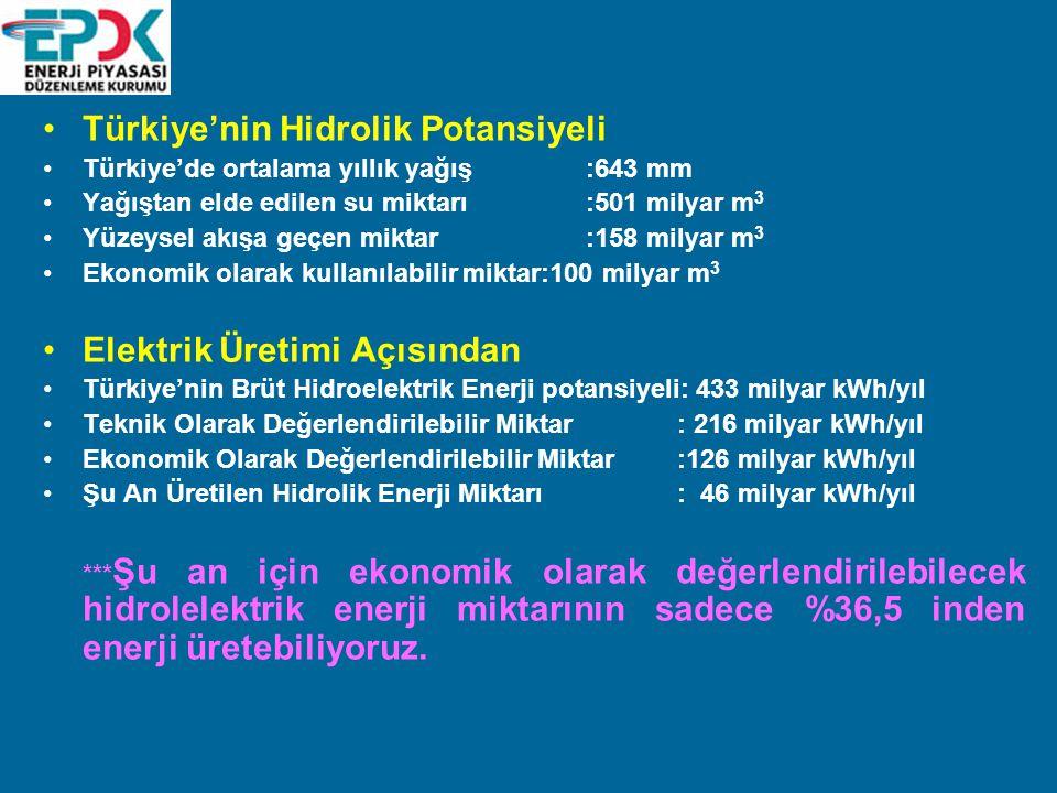Türkiye'nin Hidrolik Potansiyeli