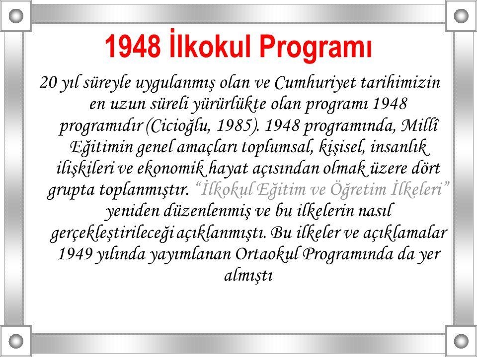 1948 İlkokul Programı