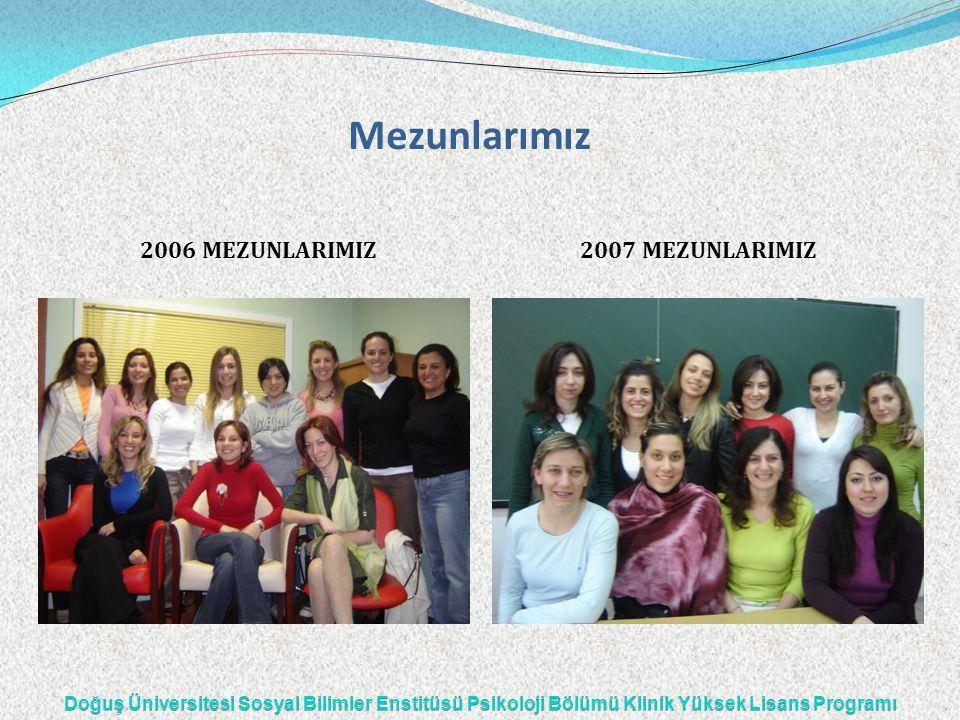 Mezunlarımız 2006 MEZUNLARIMIZ 2007 MEZUNLARIMIZ