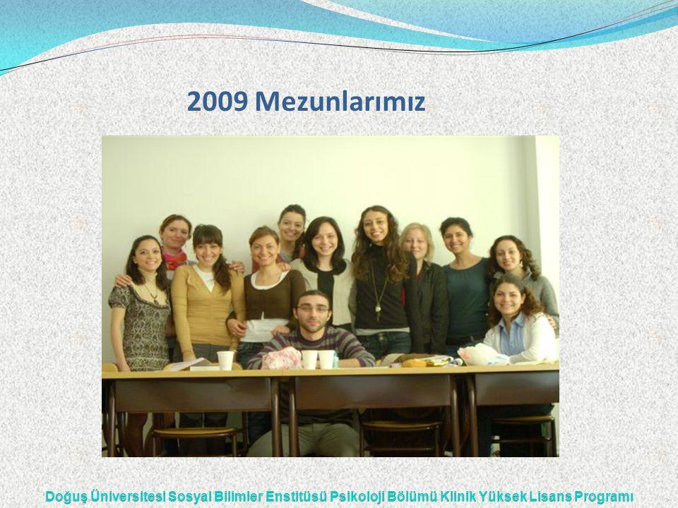 2009 Mezunlarımız