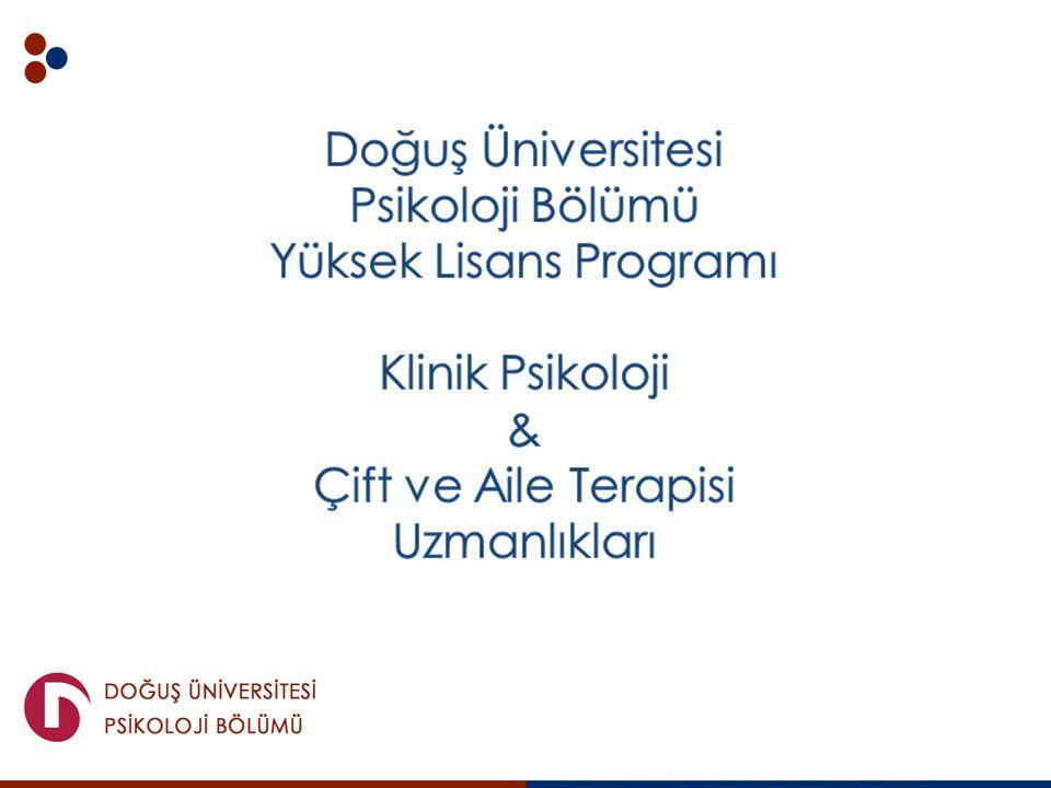 Doğuş Üniversitesi Psikoloji Bölümü Yüksek Lisans Programı