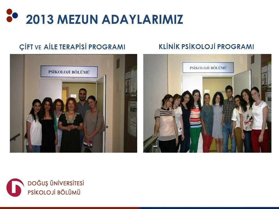 2013 MEZUN ADAYLARIMIZ ÇİFT ve AİLE TERAPİSİ PROGRAMI