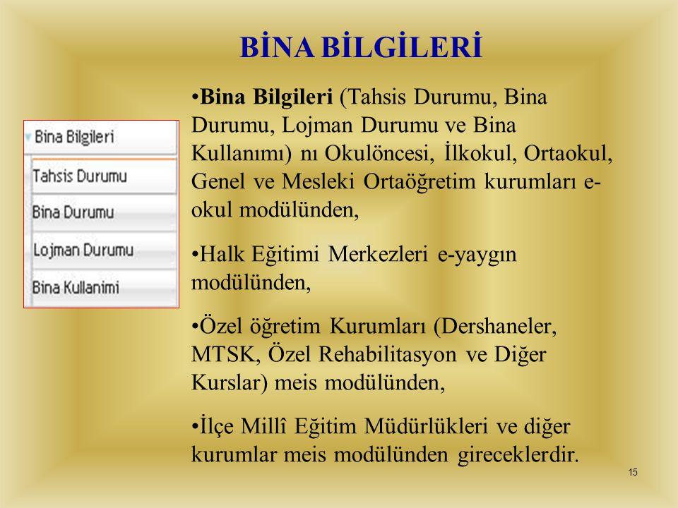BİNA BİLGİLERİ