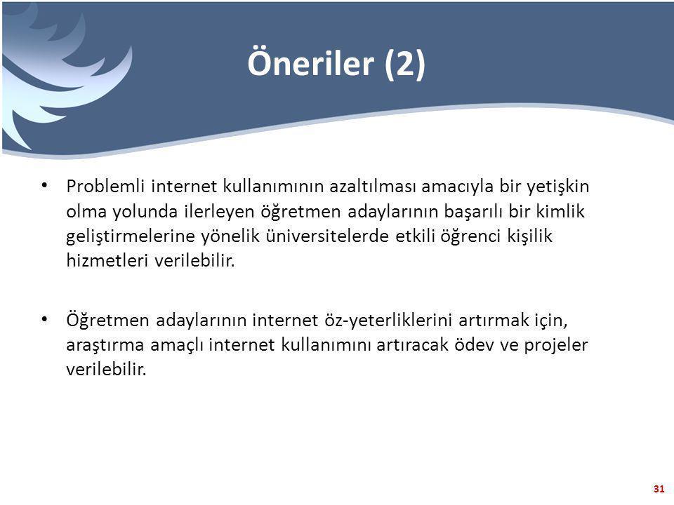Öneriler (2)