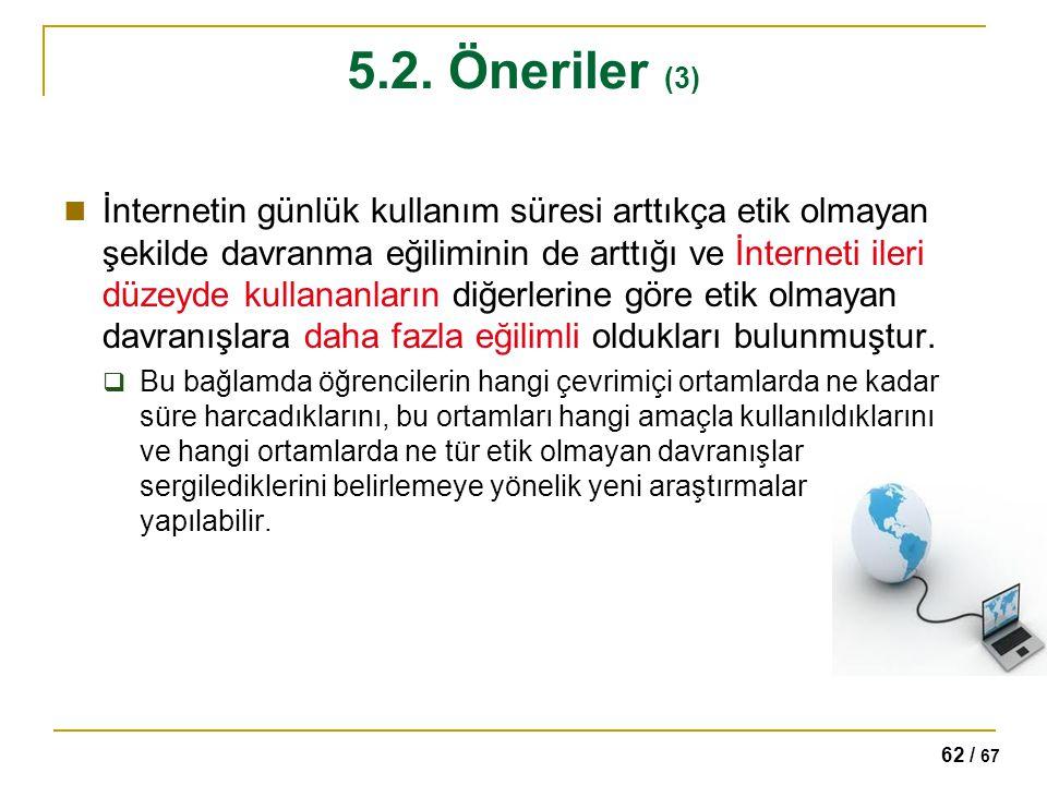 5.2. Öneriler (3)