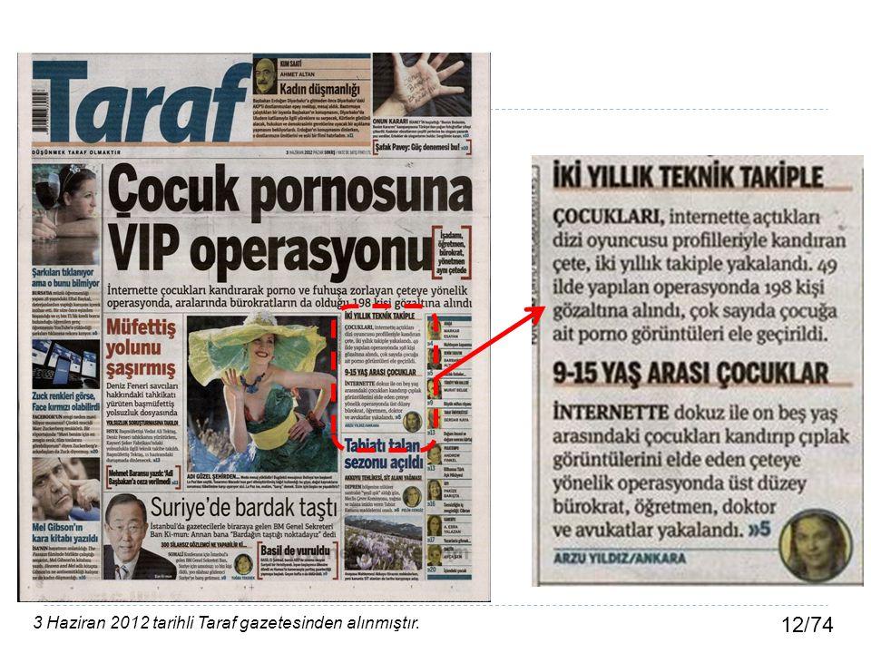 3 Haziran 2012 tarihli Taraf gazetesinden alınmıştır.