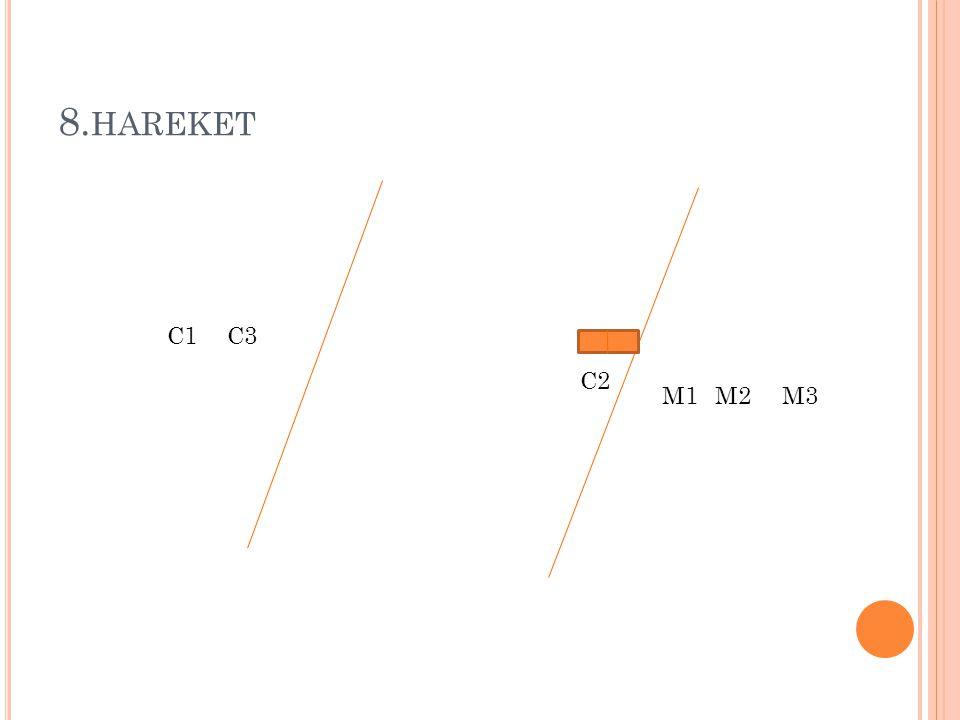 8.hareket C1 C3 C2 M1 M2 M3