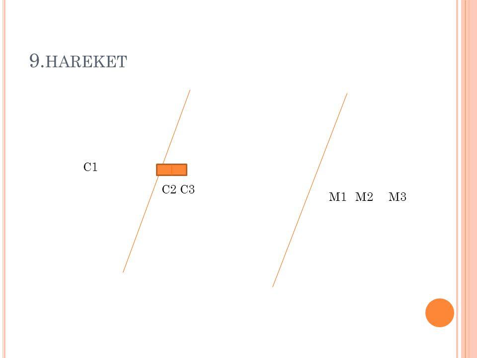 9.hareket C1 C2 C3 M1 M2 M3