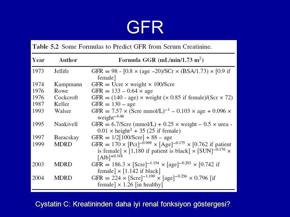 GFR Cystatin C: Kreatininden daha iyi renal fonksiyon göstergesi