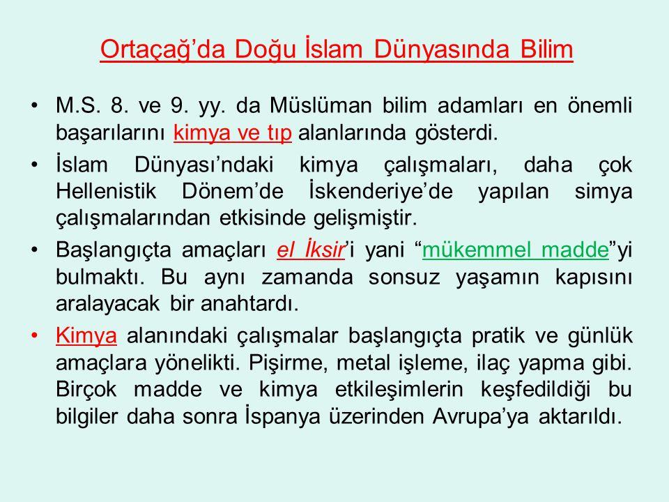 Ortaçağ'da Doğu İslam Dünyasında Bilim