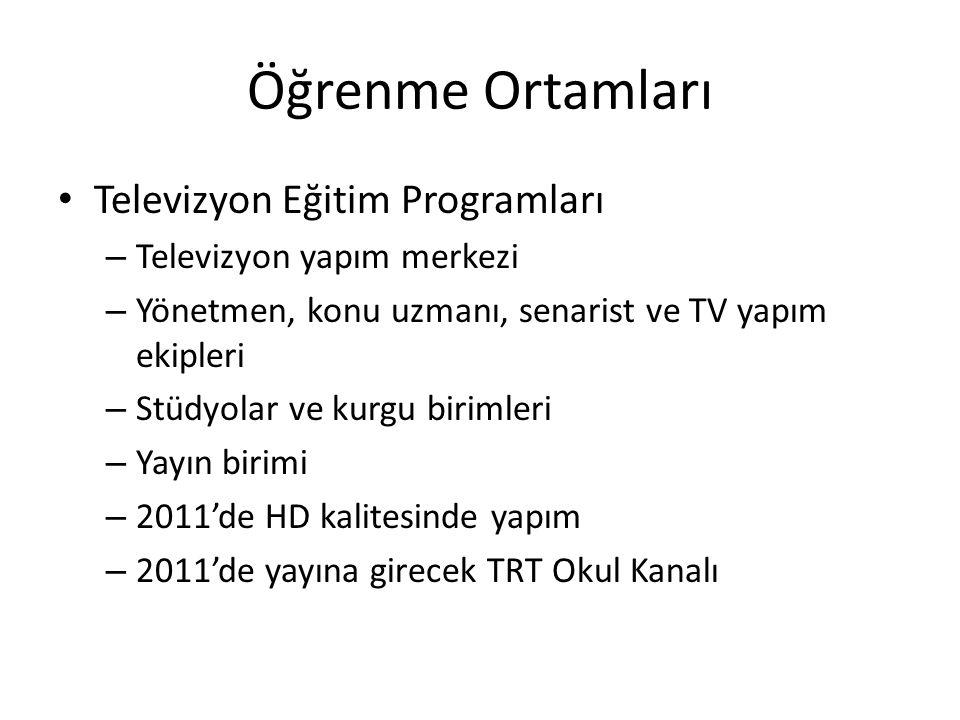 Öğrenme Ortamları Televizyon Eğitim Programları