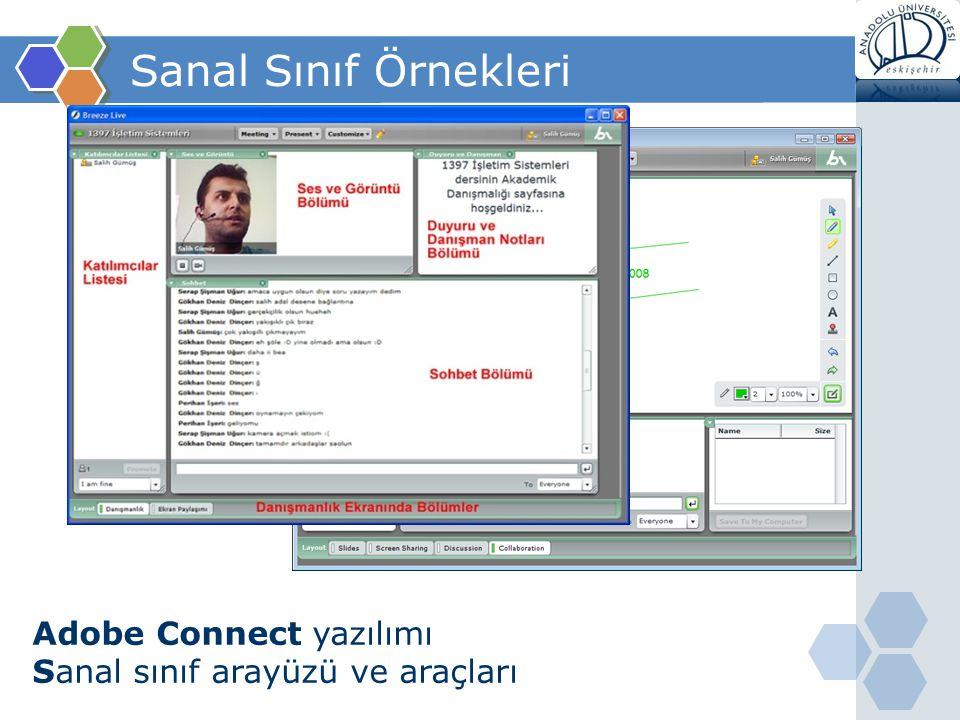 Sanal Sınıf Örnekleri Adobe Connect yazılımı