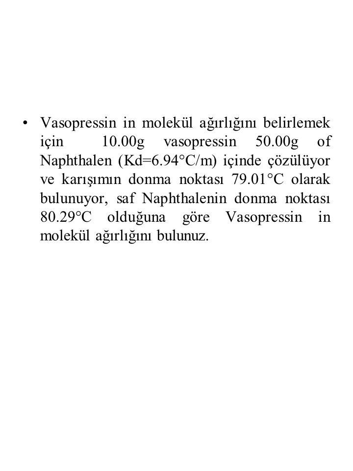Vasopressin in molekül ağırlığını belirlemek için 10