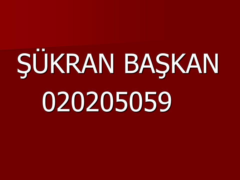 ŞÜKRAN BAŞKAN 020205059